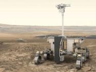 De ExoMars rover zal in 2021 op Mars landen (artist impression; © ESA).