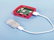 Coral USB Accelerator verbonden met de Raspberry Pi