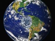 Westelijk halfrond (afbeelding: NASA) met ingezette diamant