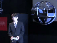 Japanese Defense Ministry shows world's first spherical drone