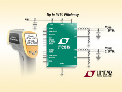 Dual 3A, 4MHz, Synchronous Step-Down Regulators with DDR Memory