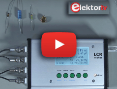 Elektor 500 ppm LCR Meter - caught on video