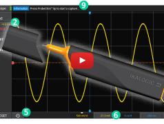 Pen-shaped battery-powered wireless oscilloscope