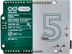 Cinque, the RISCy Arduino. Image courtesy of LinuxGizmodos