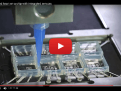 Multi-material 3D-printed heart-on-a-chip with integrated sensors