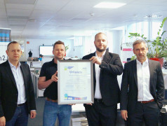 Markus Ziegler, Head of IT; Hans-Ulrich Pfleiderer, IT - Asset Manager; Alexander Schwander, PartnerManager AfB; Marco Nabinger, CIO (from left)