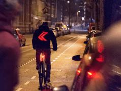 Automatische Richtungsanzeige am Fahrrad
