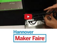 Raspberry Pi Laptop im Maker Faire Video