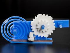 Mechanik erlaubt Variation der Dämpfung von HF-Antenne: Bild: washington.edu