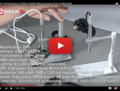 Drei preiswerte digitale Mikroskope