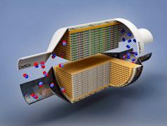 Neuartiger NOx-Katalysator. Bild:Forschungszentrum Jülich / J. Dornseiffer