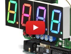 RGB Digit Clock. Bild: Elektor