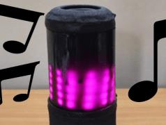 Mobiler Bluetooth-Lautsprecher mit Lichteffekten im Selbstbau