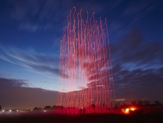 Lightshow mit Drohnenschwarm