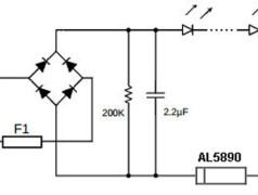 Schaltung der Stromquelle AL5890. Quelle: Diodes.