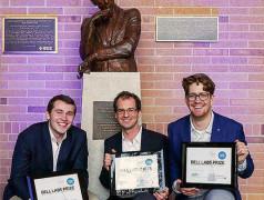 Der Bell Labs Prize für hohe Datenraten. Bild: Denise Panyik-Dale/Alcatel-Lucent