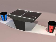 LED-Sitzhocker steuert Ping-Pong. Bild: Fraunhofer IAO