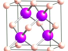 Borarsenid-Kristall. Bild: Ben Mills / wikimedia.org