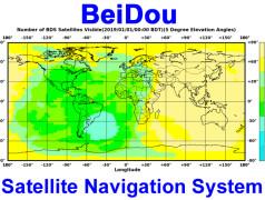 Aktuelle Satellitenabdeckung von BeiDou. Bild: BeiDou.
