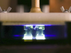 Neuartiger, extrem schneller 3D-Druck.Bild: University of Michigan.
