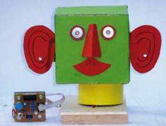 Tête de robot articulée à PIC