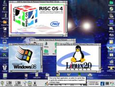 RISC OS4 - Capture d'écran par Richard Butler.