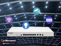 Un commutateur à huit ports compatible avec le standard Power-over-Ethernet (PoE) IEEE 802.3bt pour créer des systèmes d'éclairage intelligents économiques