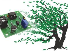 Figure 2 montre le circuit imprimé déve- loppé pour l'anémomètre.