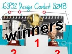 Concours de projets ESP32 2018 — les gagnants !