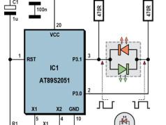 AVR en 8051 sturen 2-kleuren LED's