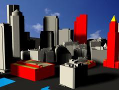 De nieuwe methode kan worden gebruikt om het zonnepotentieel van gebouwen in complexe stedelijke omgevingen te berekenen. De afbeelding toont de resultaten van het model toegepast op geselecteerde gevels en daken van gebouwen in Boston (USA). De daken hebben fellere kleuren dan de gevels, wat wijst op een hoger energiepotentieel. (3D-model van Boston Planning & Development Agency, licentie CC BY 3.0.)