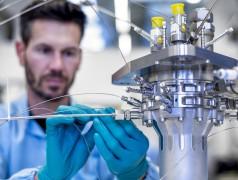 Het BERTA-prototype bij de instumentatie (foto: Arianegroup Holding/Alpensektor).