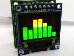 Simpele 7-band audio-spectrometer