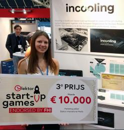 Le 3e prix de la dernière édition du concours de start-ups organisépar Elektor à Utrecht, aux Pays-Bas