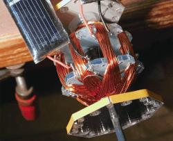 Elektor Mendocino motor : solar panel, coils and wires