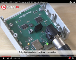 Isolated (<1 kV) USB/DMX512 converter | Elektor Magazine
