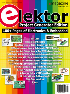 Elektor July & August 2014 Double Edition Ready for Download for Members