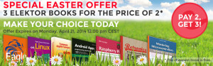 Elektor Easter Offer – Buy 3 Books for the Price of 2