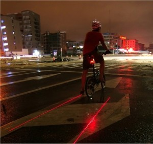 LED & Laser tail light creates safer perimeter for bikes