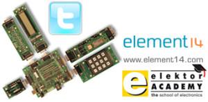 E-blocks go Twitter in next Elektor Academy/element14 webinar