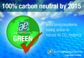 Austriamicrosystems to achieve 100% carbon neutral status by 2015