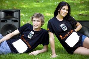 Sound Charge t-shirt @ Glastonbury festival