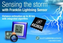 World's First Lightning Sensor IC Detects Lightning up to 40 km Away