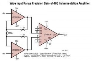 Zero Drift, Self Calibrating Instrumentation Amp