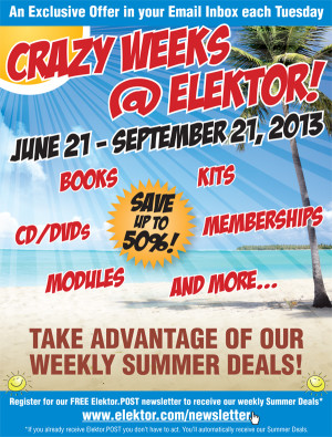 Crazy Weeks @ Elektor – Super Summer Discounts