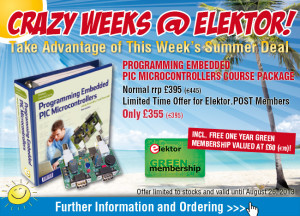 Discounted PIC Programming Course Includes Free Elektor GREEN Membership