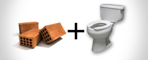 #EcoMonday tip 2: Bricks in your Toilet!