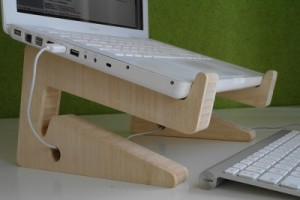 Puzzle Bamboo Laptop Stand