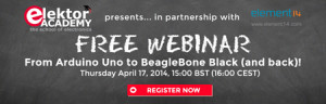 Latest Webinar: From Arduino Uno to BeagleBone Black (and back)!