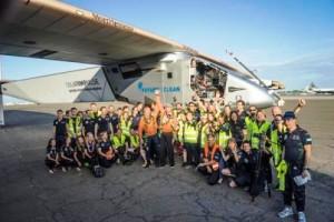 Some of the Solar Impulse team